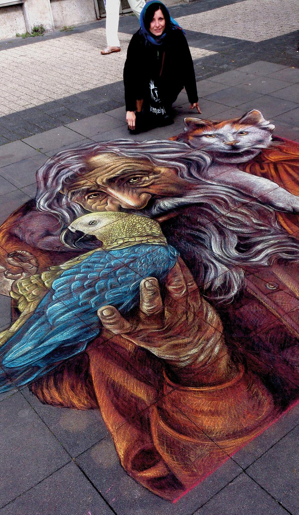 Die Erzähler Geldern Straßenmaler Fest, Germany 2013. (3,7x3,2 m)