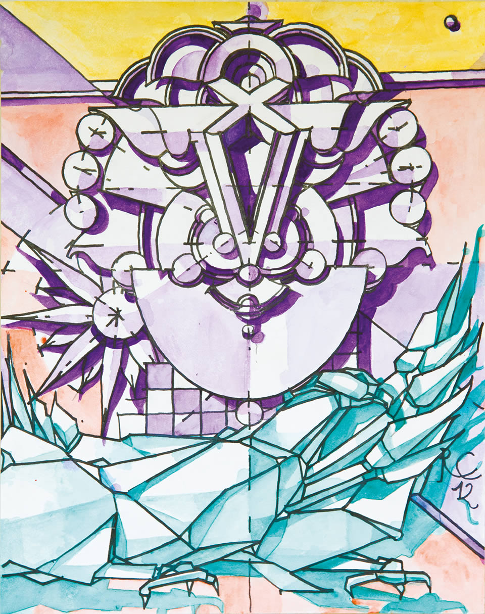 La fenice di Thule  | acquarello CM 21 x 29,5 | RICCARDO CECCHINI 2012
