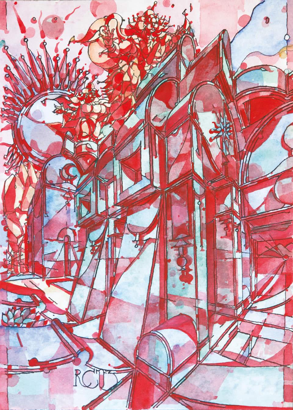 La via nuova | acquarello CM 21 x 29,5 | RICCARDO CECCHINI 2003